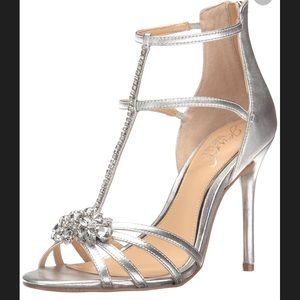 Jewel Badgley Mischka Silver Dress Sandal - 6.5